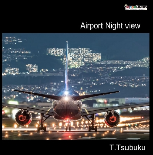 Airport night view